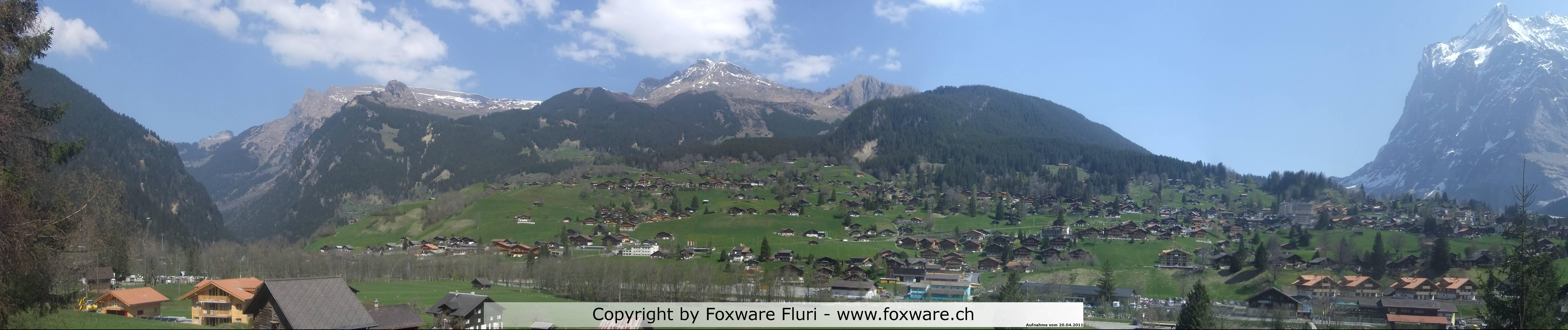 Panoramabild Grindelwald im Sommer